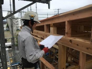 金物取付完了!木工工事が進んでおります 安積町 新築工事 モデルハウス