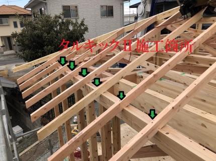 タルキックⅡの施工確認です 岩瀬郡鏡石町 |郡山市 新築住宅 大原工務店のブログ