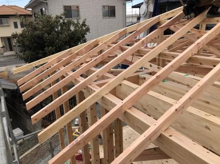 垂木の施工です 岩瀬郡鏡石町 |郡山市 新築住宅 大原工務店のブログ