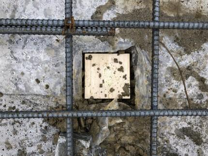 基礎コンクリートを打つ前に鎮物を埋めます。田村市船引町|郡山市 新築住宅 大原工務店のブログ