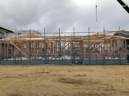 建て方を行っています 岩瀬郡鏡石町 |郡山市 新築住宅 大原工務店のブログ