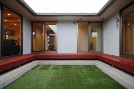 郡山市平屋モデルハウス「中庭のある家」中庭|郡山市 新築住宅 大原工務店のブログ