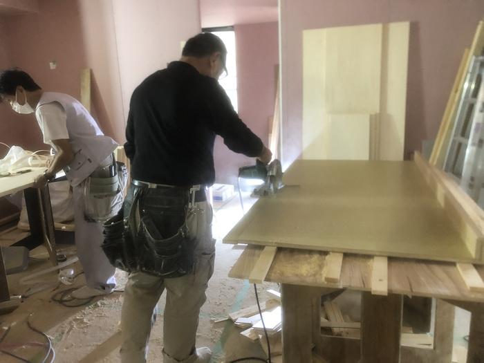 大原工務店で新築注文住宅建築中W様邸、和室のお洒落な天井を施工してます。郡山市長者| 郡山市 新築住宅 大原工務店のブログ