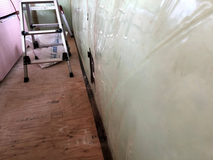 防湿・気密シートが膨らんでいきます。郡山市深沢|郡山市 新築住宅 大原工務店のブログ