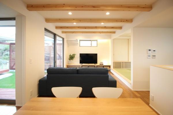 郡山市平屋モデルハウス「中庭のある家」リビングダイニング|郡山市 新築住宅 大原工務店のブログ