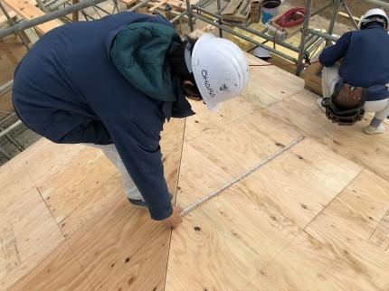 野地板の施工チェックです 岩瀬郡鏡石町 |郡山市 新築住宅 大原工務店のブログ
