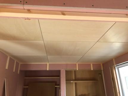 和室のシナの天井です。