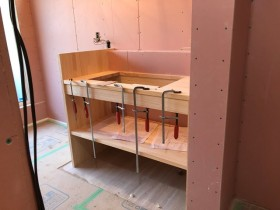 造作の洗面台です。