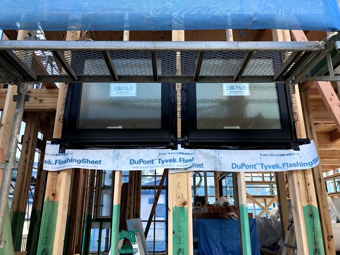 サッシ取付完了です。|郡山市 新築住宅 大原工務店のブログ