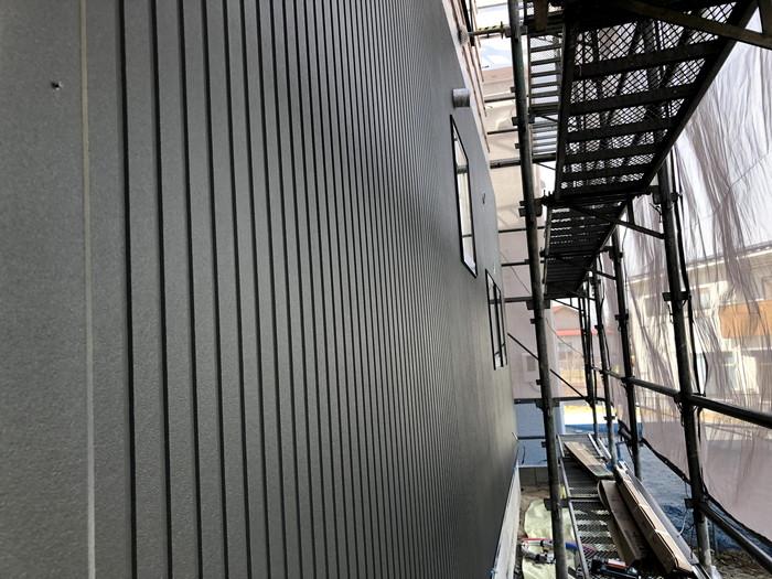 新築注文住宅の外壁施工が進んでます。須賀川市森宿| 郡山市 新築住宅 大原工務店のブログ