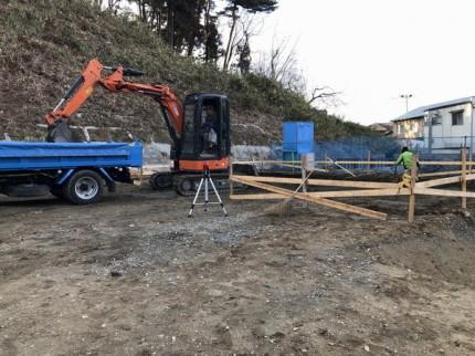 べた基礎の根切りです。|郡山市 新築住宅 大原工務店のブログ