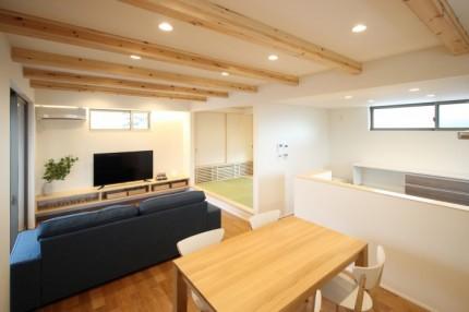 平家モデルハウスのリビングです。郡山市安積町| 郡山市 新築住宅 大原工務店のブログ