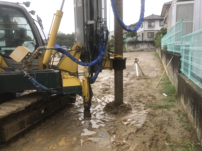 柱状改良の様子です。|郡山市 新築住宅 大原工務店のブログ