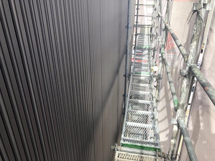 つなぎ目がなく、綺麗にガルバの外壁を仕上げております。郡山市喜久田町| 郡山市 新築住宅 大原工務店のブログ