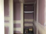 石膏ボードの上にパテを塗っていきます。郡山市大槻町|郡山市 新築住宅 大原工務店のブログ