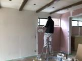 漆喰を塗っております。郡山市小原田|郡山市 新築住宅 大原工務店のブログ