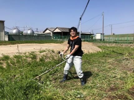 新築着工前の草刈り開始です。|郡山市 新築住宅 大原工務店のブログ