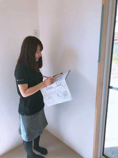 W様邸のキズチェックに行ってきました| 郡山市 新築住宅 大原工務店のブログ