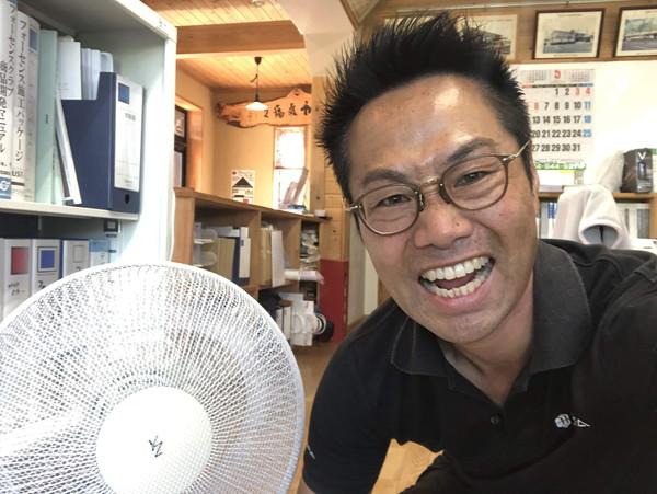 扇風機デビューです。|郡山市 新築住宅 大原工務店のブログ