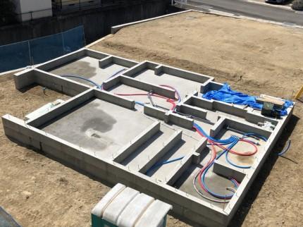 べた基礎の完成です。 郡山市 新築住宅 大原工務店のブログ