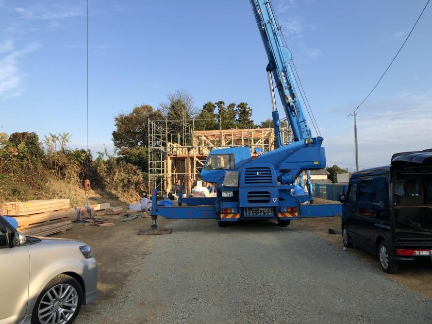 郡山市富久山町八山田の新築住宅が上棟しました。おめでとうございます。|郡山市 新築住宅 大原工務店のブログ