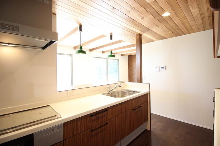 オシャレな間接照明がついたキッチンです。須賀川市S様邸| 郡山市 新築住宅 大原工務店のブログ