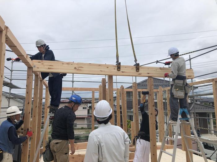 新築住宅の梁組みです。|郡山市 新築住宅 大原工務店のブログ
