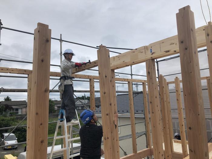 新築住宅の建前です。|郡山市 新築住宅 大原工務店のブログ