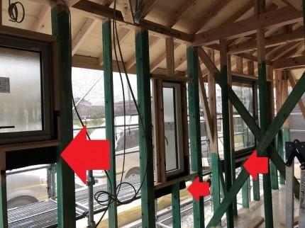 雨仕舞を配慮してサッシを取り付けます。郡山市安積町|郡山市 新築住宅 大原工務店のブログ
