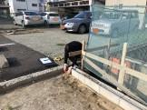 敷地の長さを測っていきます。|郡山市 新築住宅 大原工務店のブログ