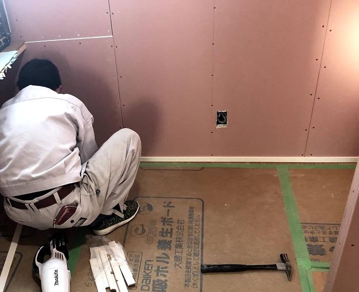 壁の石膏ボードにハイクリンボードを使用してます。須賀川市森宿| 郡山市 新築住宅 大原工務店のブログ