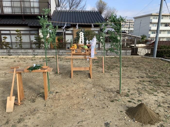 地鎮祭の準備が整いました。郡山市深沢  郡山市 新築住宅 大原工務店のブログ