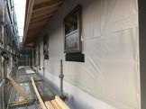 新築の防水シート張りです。