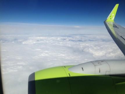 羽田空港から宮崎へ出発!富士山上空付近にて