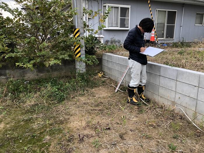 敷地調査を行っています 本宮市仁井田 |郡山市 新築住宅 大原工務店のブログ