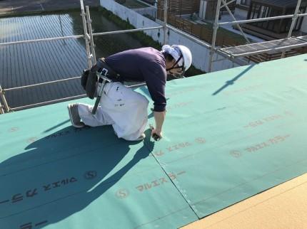 屋根に防水工事をします。田村市船引町|郡山市 新築住宅 大原工務店のブログ