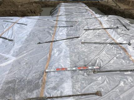 べた基礎の防湿シート施工です。|郡山市 新築住宅 大原工務店のブログ