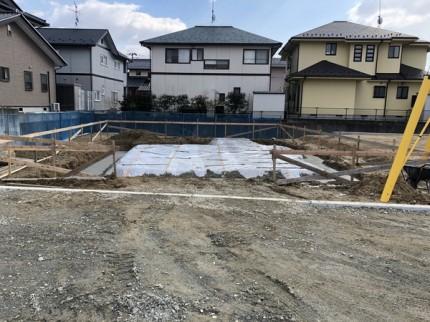 べた基礎の防湿シートです。|郡山市 新築住宅 大原工務店のブログ