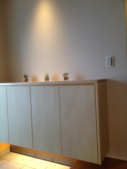ダウンライトと間接照明でデザイン性の高い玄関