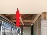 新築平屋モデルの軒天井です。