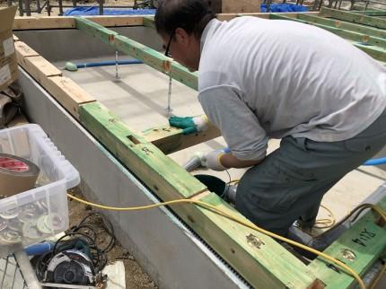 土台の防蟻処理です 郡山市安積町 |郡山市 新築住宅 大原工務店のブログ