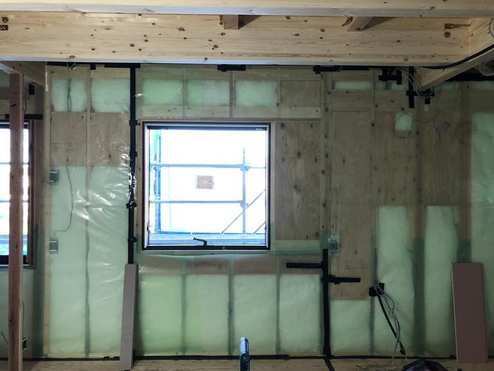 気密処理の完成です。|郡山市 新築住宅 大原工務店のブログ