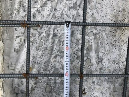 基礎配筋のピッチ確認です。須賀川市北横田|郡山市 新築住宅 大原工務店のブログ