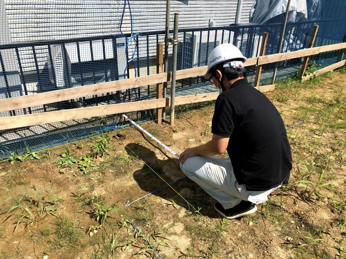 丁張検査です。|郡山市 新築住宅 大原工務店のブログ