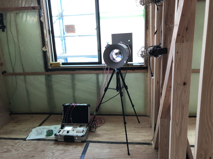 気密測定を行いました。|郡山市 新築住宅 大原工務店のブログ