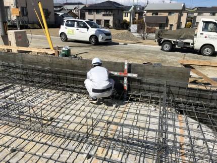 立ち上がり状況をチェック|郡山市 新築住宅 大原工務店のブログ