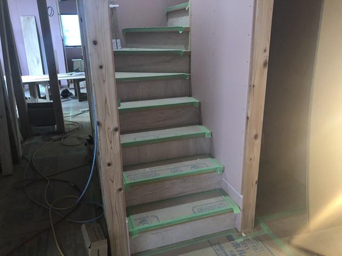 階段の完成です。|郡山市 新築住宅 大原工務店のブログ