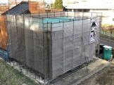 足場にメッシュシートが施工されました 郡山市安積町 |郡山市 新築住宅 大原工務店のブログ