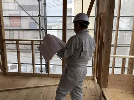 検査の様子です 郡山市安積町 |郡山市 新築住宅 大原工務店のブログ