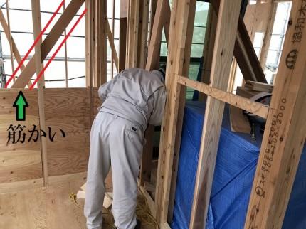 金物や筋かいを検査しています 郡山市安積町 |郡山市 新築住宅 大原工務店のブログ